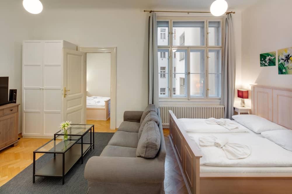 דירה, חדר שינה אחד, מטבח (4 Adults) - אזור מגורים
