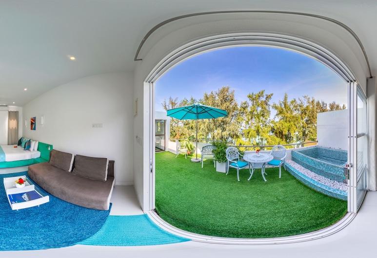 Planktons Beach, Hulhumalé, Suite, terraza, vista al mar, Terraza o patio
