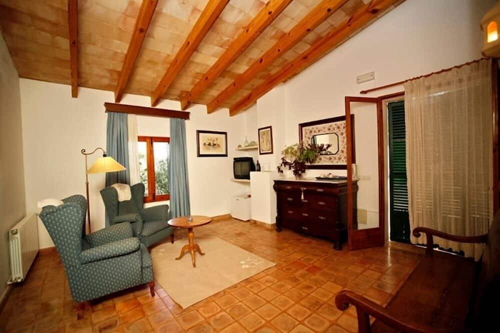 Apartmá, terasa, výhled do zahrady - Obývací pokoj