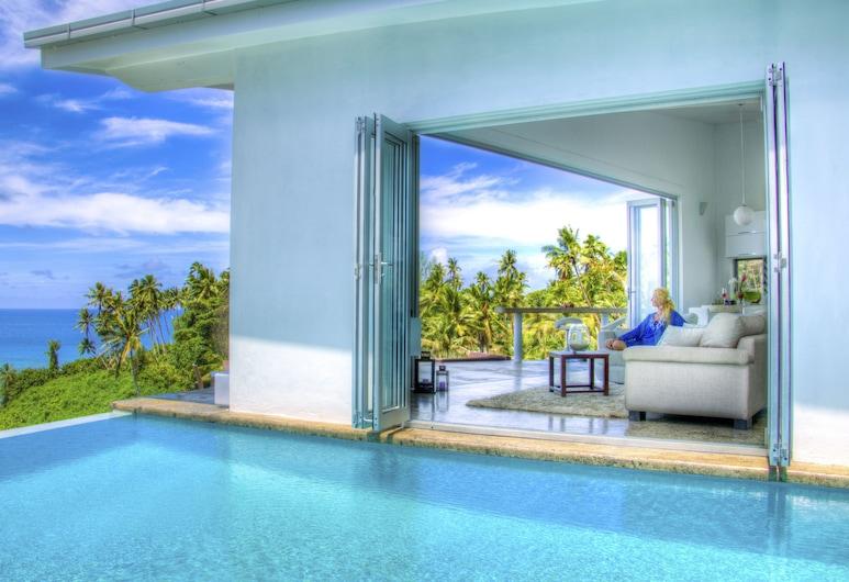 Vacala Bay Resort, Este de la Isla de Taveuni, Villa de lujo, 2 habitaciones, vista a la playa, Sala de estar
