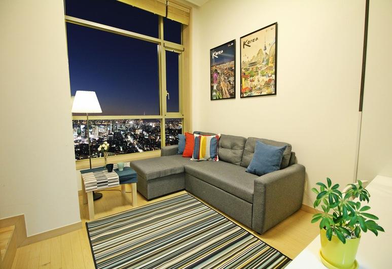 스위트 캐슬 아파트먼트, 서울특별시, Sky View twin (스카이뷰 트윈) , 거실 공간