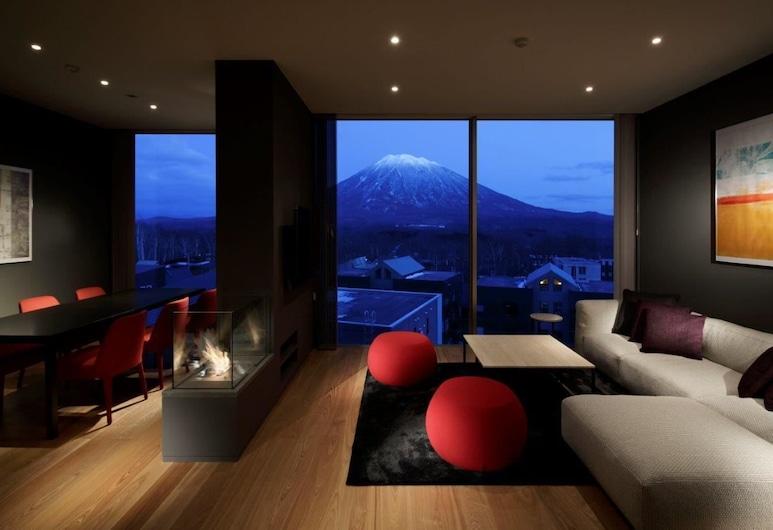 Terrazze Niseko, Kutchan, Apartmán typu Deluxe, 2 spálne (Yotei View), Obývacie priestory