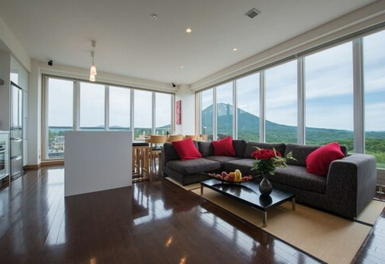 Snow Crystal, Kutchan, Ateliérový apartmán s panoramatickým výhľadom, 2 spálne, nefajčiarska izba (Yotei), Obývacie priestory