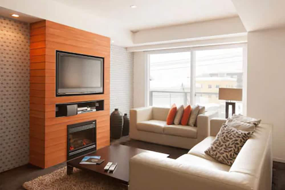 Appartement Deluxe, 2 chambres (Alpine) - Coin séjour