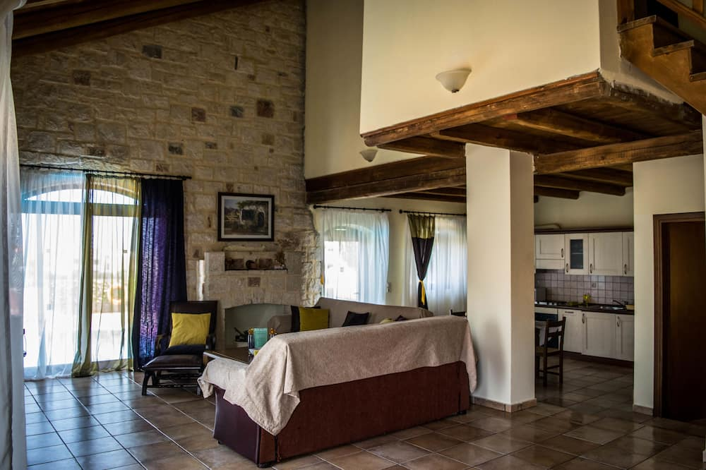 Villa, 2 Bedrooms, Private Pool, Sea View - Living Area
