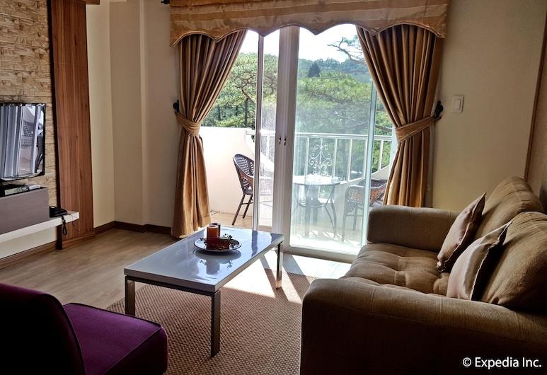 Prestige Vacation Apartments - Bonbel Condominium, Baguio, 1-Bedroom Apartment at Bonbel Condominium, Living Room