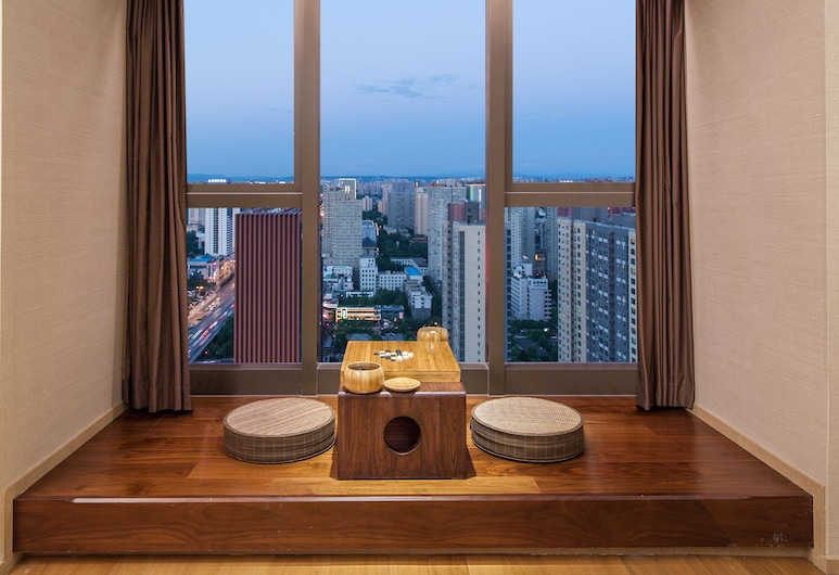 Somerset Xindicheng Xi'an, Xi'an, Štúdio typu Basic, 2 jednolôžka, súkromná kúpeľňa, výhľad na mesto, Balkón