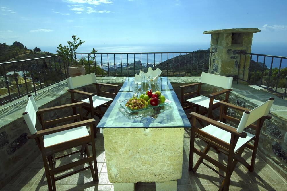 Villa, divas guļamistabas, skats uz jūru (Duplex, Pleiades) - Balkons