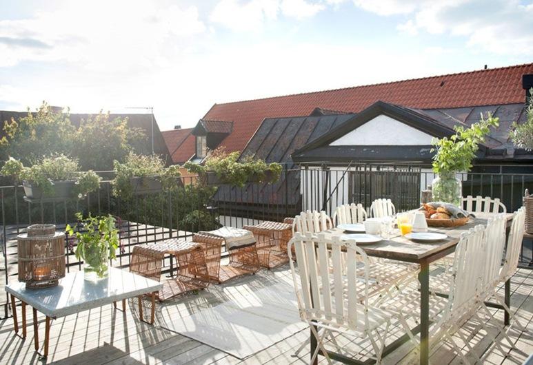Hotell Repet, Visby, Loftsleilighet, Terrasse/veranda