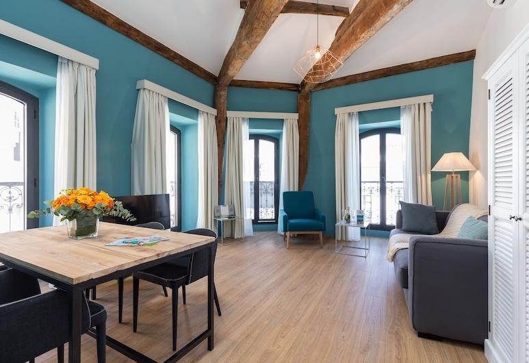 Florella Antibes, Cannes, Superior appartement, 1 slaapkamer, Woonruimte