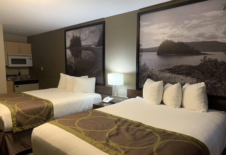 Super 8 by Wyndham Courtenay, Courtenay, Deluxe Room, 2 Queen Beds, Non Smoking (Efficiency), Guest Room