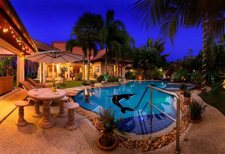 Relaxing Palm Pool Villa, Bang Lamung, Außenbereich