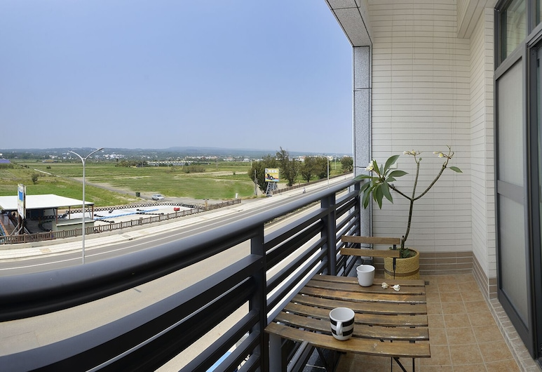 Come Inn 2, Hengchun, Dvojlôžková izba typu Deluxe, balkón, Výhľad z balkóna