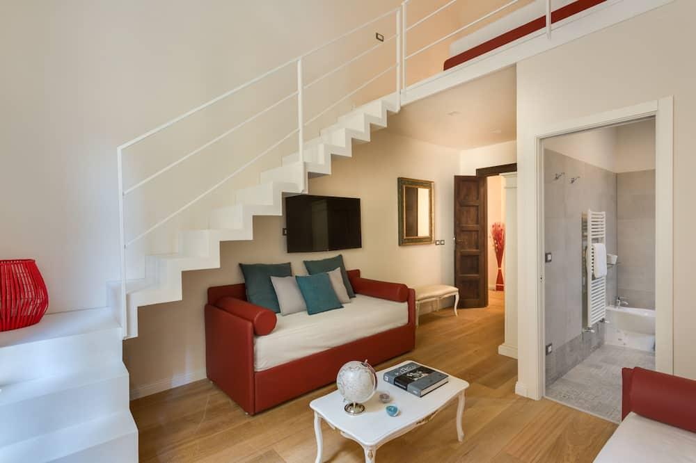 Vierbettzimmer (2 levels - Beatrice) - Wohnzimmer