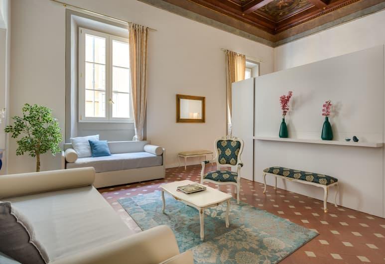 Residenza D'Epoca Historia Luxury, Floransa, Luxury Dört Kişilik Oda (Monnalisa), Oturma Odası