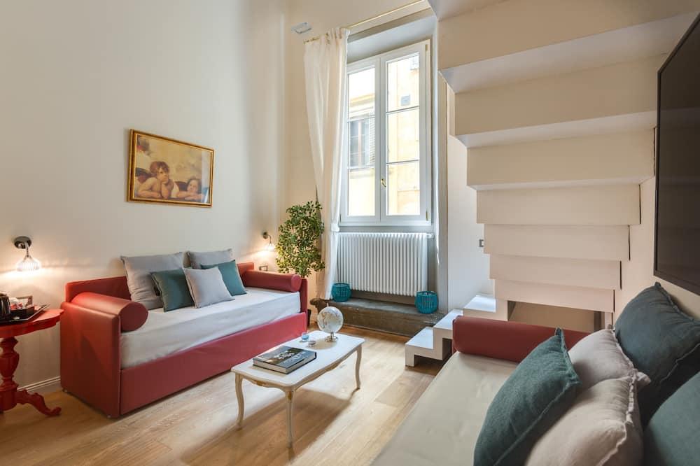 Vierbettzimmer (2 levels - Beatrice) - Wohnbereich