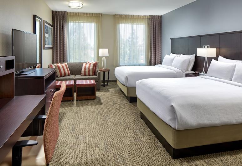 Staybridge Suites Anaheim At The Park, Anaheim, Suite monolocale, 2 letti queen, accessibile ai disabili, cucina (Hearing), Camera