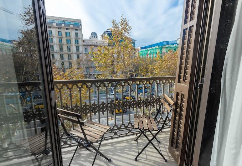 Hostalin Barcelona Pg. de Gràcia, Barcelona, Dvokrevetna soba, balkon, pogled na grad, Prostor za sjedenje u predvorju
