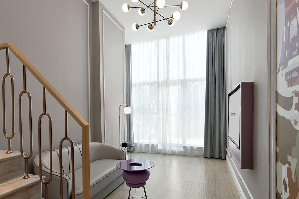 高級套房, 1 張特大雙人床 - 客廳