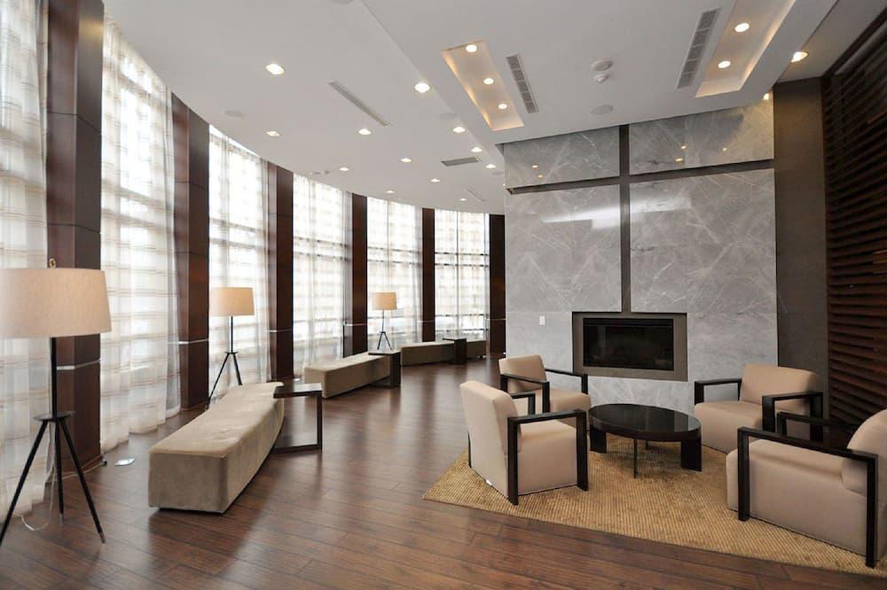 Luxusný byt, 2 spálne, bezbariérová izba, výhľad na mesto - Obývacie priestory