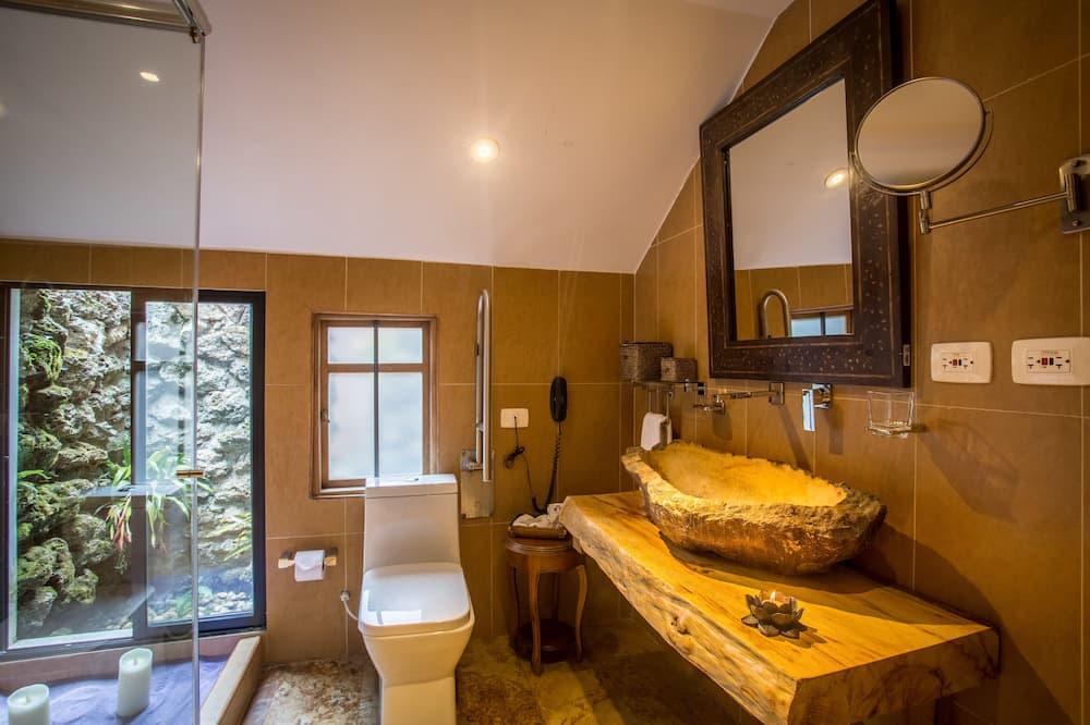 Prabangaus stiliaus kambarys, su patogumais neįgaliesiems - Vonios kambarys