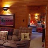 Camera Luxury, 2 camere da letto, idromassaggio, vista valle - Area soggiorno