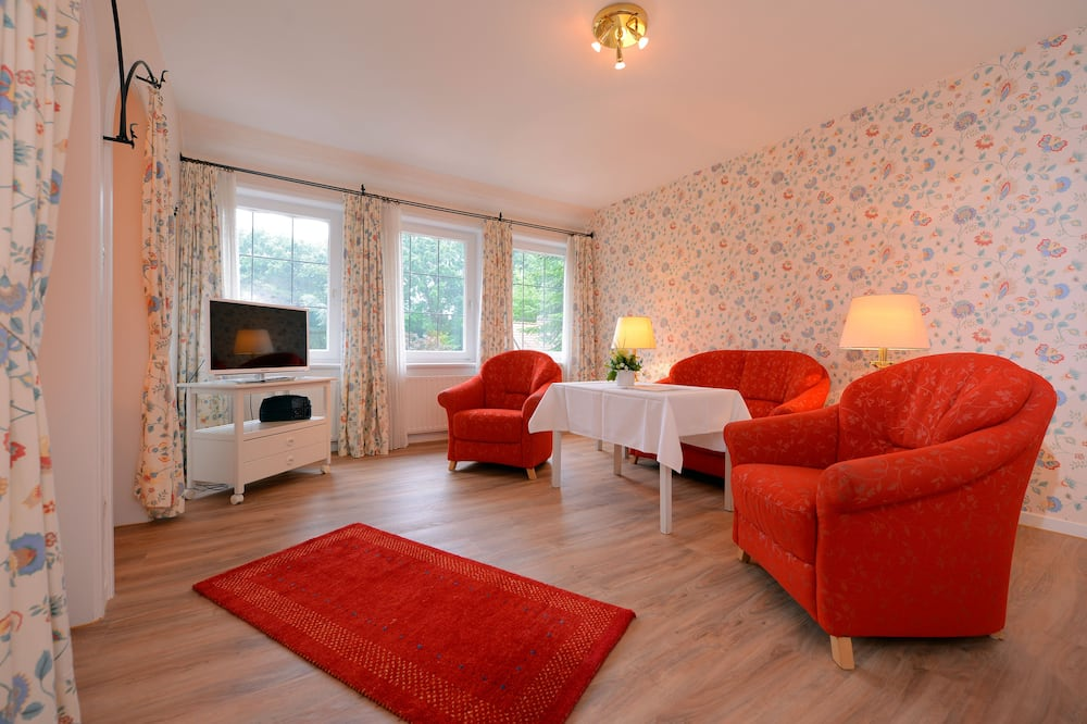 Двухместный номер «Комфорт» с 1 двуспальной кроватью, 1 спальня, мини-кухня - Зона гостиной