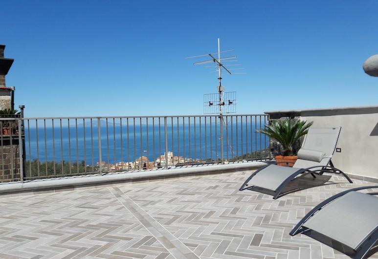 Agriturismo La Lobra, Massa Lubrense, Penthouse Mewah, 1 kamar tidur, pemandangan laut, gedung tambahan, Pemandangan Kamar Tamu