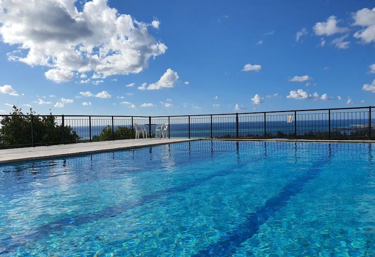Villa Coral Sunset, Kissonerga, Vila, 5 spální, súkromný bazén, výhľad na more, Výhľad na pláž/oceán