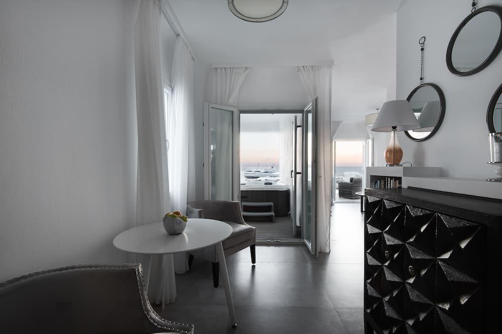 Suite Grand, 3 habitaciones, vista al mar (Outdoor Hot Tub) - Sala de estar