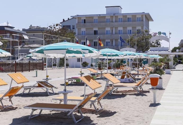 هوتل اورشيديا بلو, ريميني, واجهة الفندق