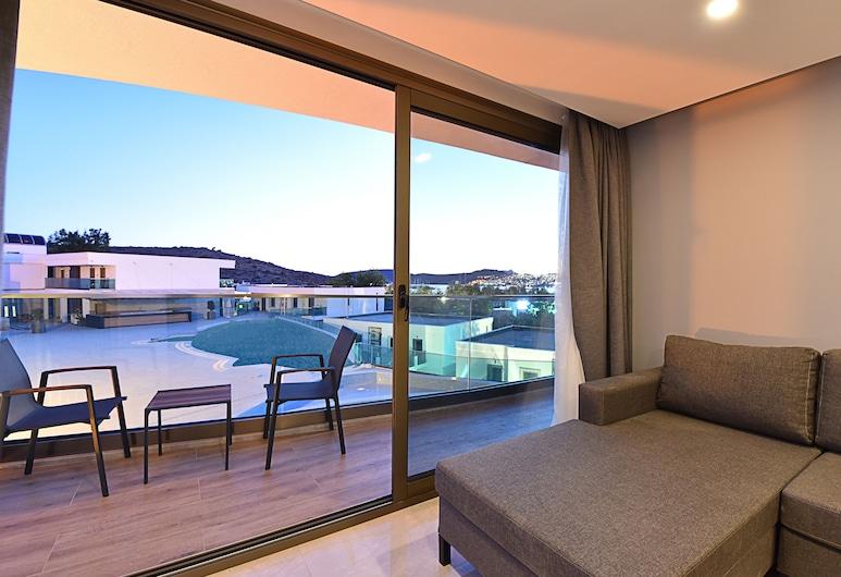 Jasmin Elite Residence, Bodrum, Two-Bedroom Apartment-Sea View, Wohnbereich
