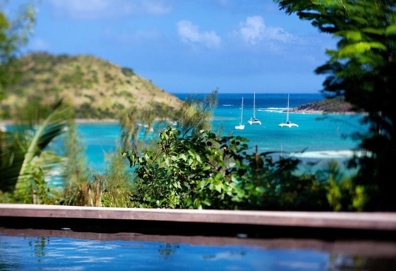 Karibuni Lodge, קול דה סאק, סוויטת פרימיום, בריכה פרטית, נוף לים, נוף מחדר האורחים