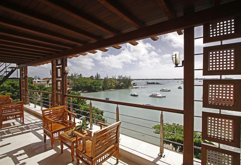 Azure Beach Boutique Hotel, Grand-Baie, Habitación doble Premium, vista al mar, Balcón