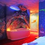 Дизайнерский двухместный номер с 1 двуспальной кроватью, 1 двуспальная кровать - Зона гостиной