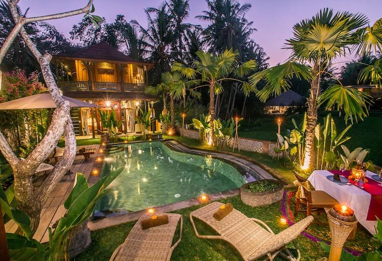 Gusde Tranquil Villa by EPS, Ubud, Udendørs spisning