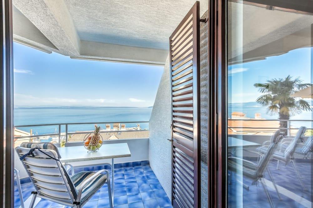 Deluxe-Apartment, 1 Schlafzimmer, 2 Bäder, Meerblick - Balkon
