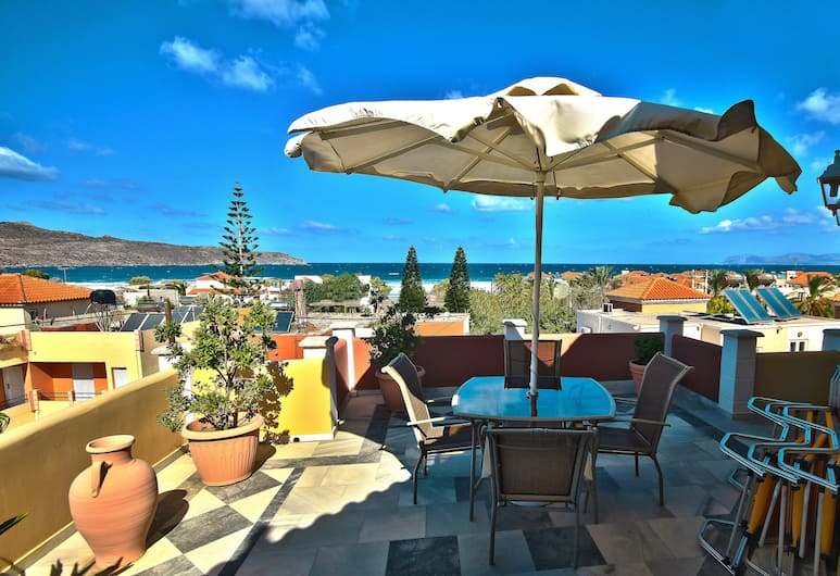 Heaven Apartments, Chania, Duplex, 1 Double Bed, Lanai, Sea View, View from room