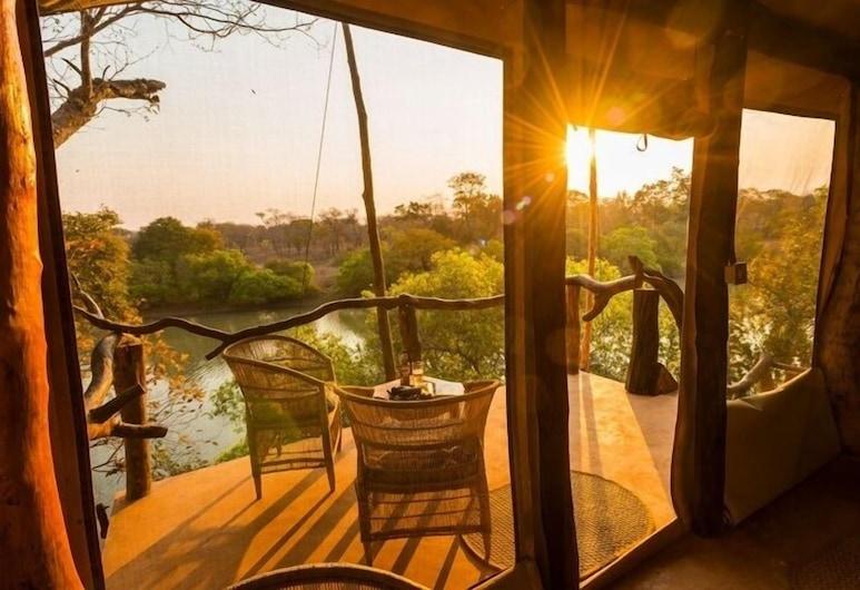 Mukambi Fig Tree Bush Camp – All Inclusive, Kafujės nacionalinis parkas, Dvivietis kambarys (Safari Tent), Terasa / vidinis kiemas