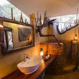 Dobbeltrom (Safari Tent) - Vask på badet