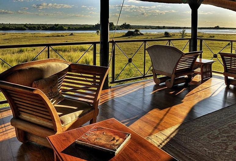 Camp Linyanti, Parque nacional de Chobe, Terraza o patio