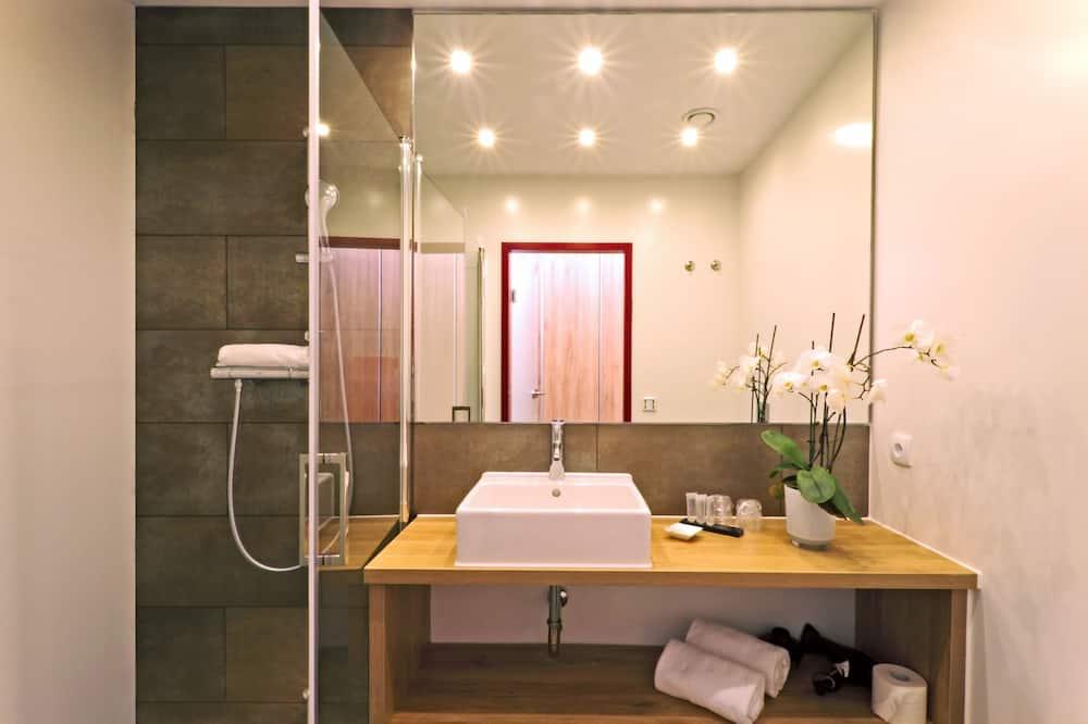 Comfort-Einzelzimmer, Nichtraucher, Stadtblick - Badezimmer