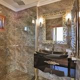Double Room, Terrace (Fireplace) - Bathroom