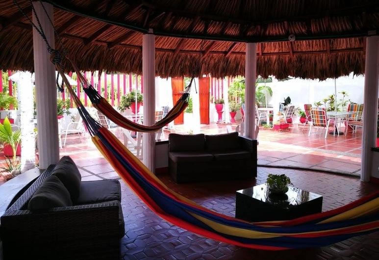 Casa Hotel Galeones, Cartagena, Sitzecke in der Lobby