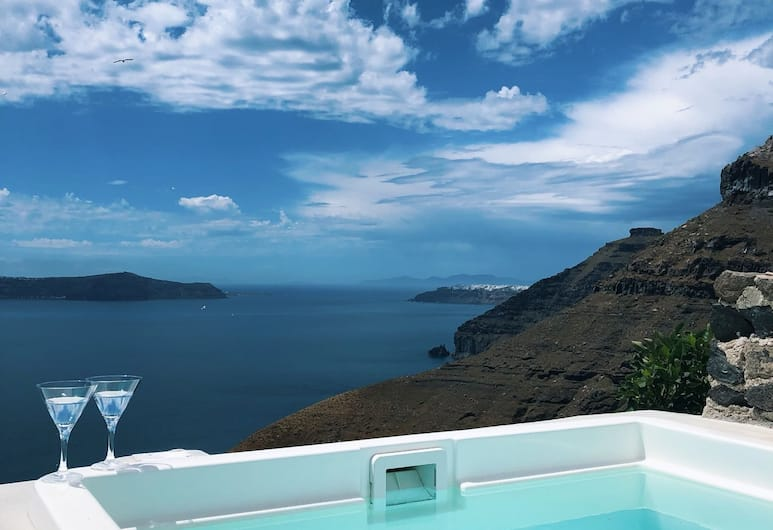 Golden Grey Goose, Santorini, Duplex, 1 Bedroom (Golden), Terrace/Patio