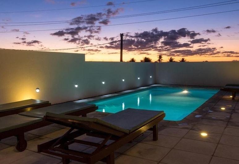 Residence Les Alizes, La Gaulette, Căn hộ Superior, 1 phòng ngủ, Quang cảnh hồ bơi, Sân thượng/sân hiên