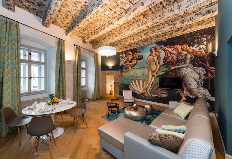 Old Royal Post Hotel, Praag, Junior suite, Woonkamer