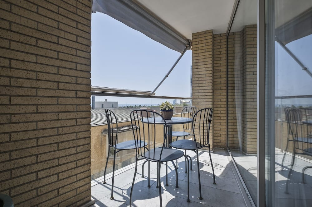 Departamento, 3 habitaciones, terraza, vista al mar - Balcón