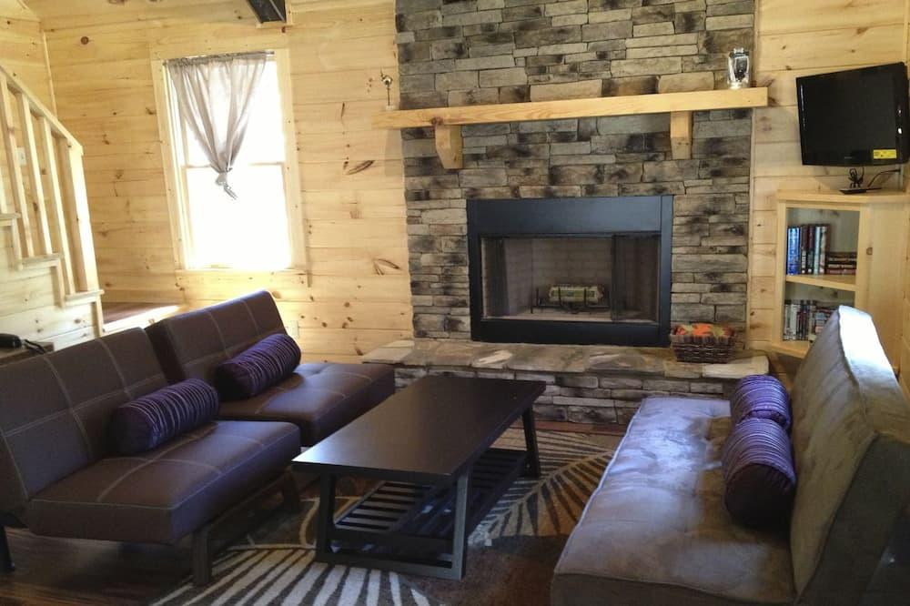 Cabin, 2 Bedrooms, Hot Tub - Living Room