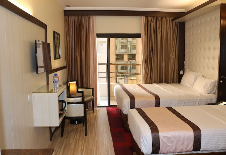 Al Khaleej Grand Hotel, Dubai, Family Room, Balcony, Guest Room